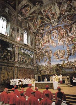 Cappella Sistina, Omelia di Giovanni Paolo II, 1984 (Musei Vaticani)
