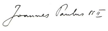 Giovanni Paolo II (firma)