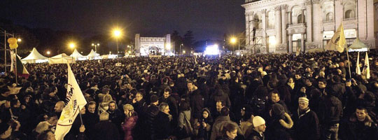 Il M5S in piazza San Giovanni a Roma (Twitter)