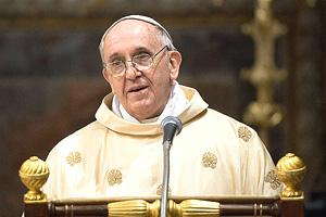 Papa Francesco (L'Osservatore Romano-AP in csmonitor.com)