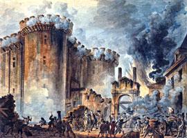 Presa della Bastiglia (Jean-Pierre Houël, 1789 su Wikipedia)