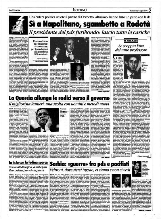 La Stampa del 3 giugno 1992