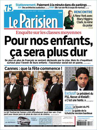 Le Parisien del 16 maggio 2013