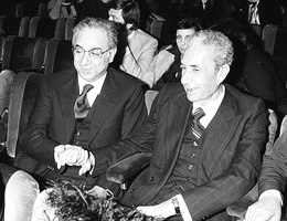 Aldo Moro e Francesco Cossiga (romanoprodi.it)