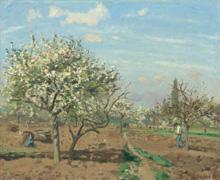 Camille Pissarro, Frutteto in fiore a Louveciennes, 1872 (nga.gov)