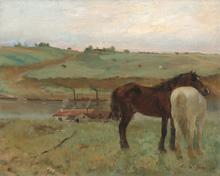 Edgar Degas, Cavalli nella brughiera (nga.gov)