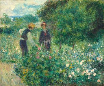 Auguste Renoir, Cogliendo fiori, 1875 (nga.gov)
