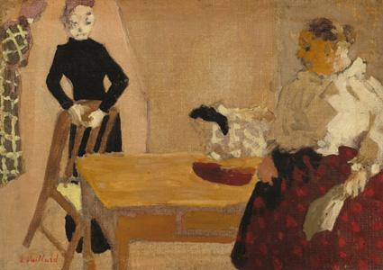 Édouard Vuillard, La conversazione, 1891 (nga.gov)