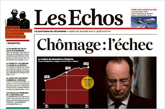 Les Echos del 28 gennaio 2014 (pdf)