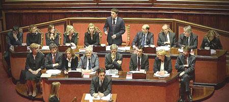 Renzi al senato (@Corriereit)
