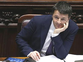Renzi alla camera (ANSA.it)