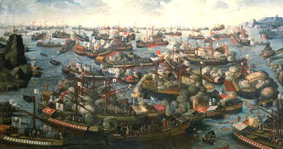 La battaglia di Lepanto, dipinto anonimo (arsbellica.it)